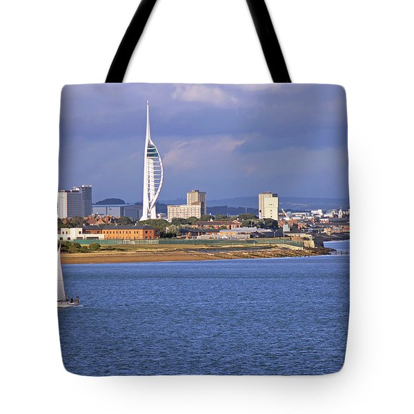 Spinnaker Tower And Gunwharf Quays Tote Bag
