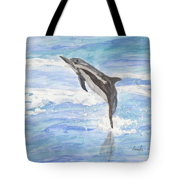 Spinner Dolphin Tote Bag