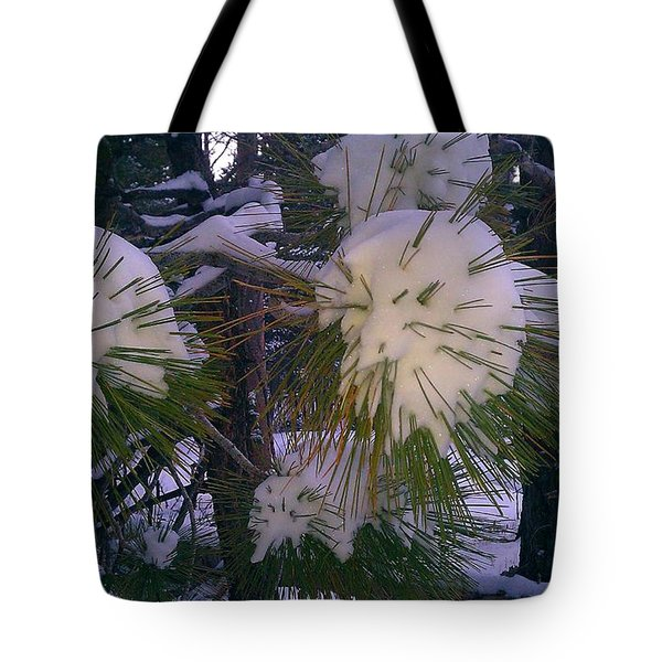 Spiny Snow Balls Tote Bag