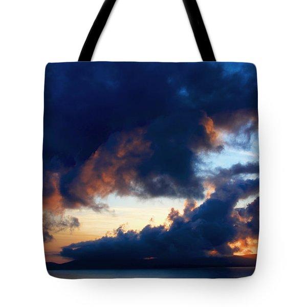 Spiral Clouds Tote Bag by Aidan Moran