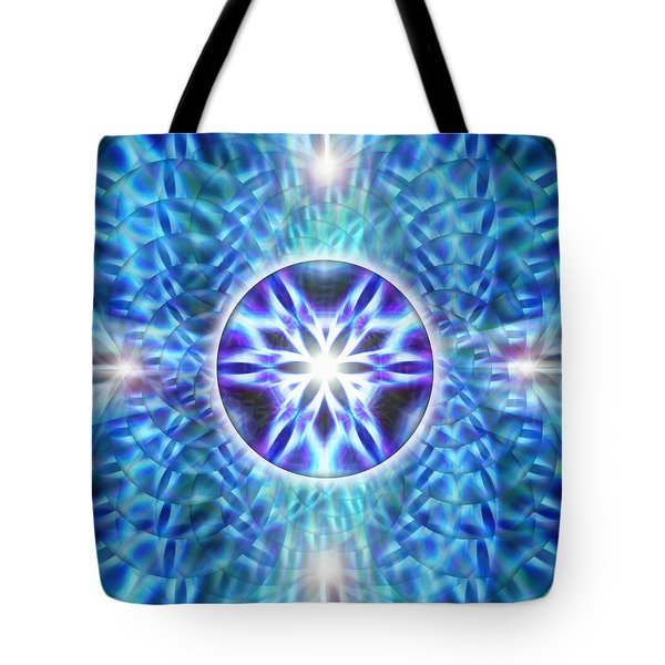 Tote Bag featuring the drawing Spiral Compassion by Derek Gedney