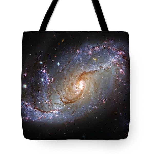 Spiral Galaxy Ngc 1672 Tote Bag by Jennifer Rondinelli Reilly - Fine Art Photography