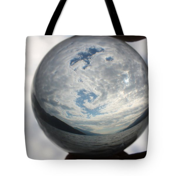 Spiral In The Sky Tote Bag by Cathie Douglas