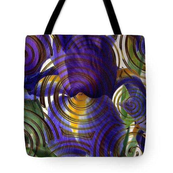 Spiral Iris Tote Bag