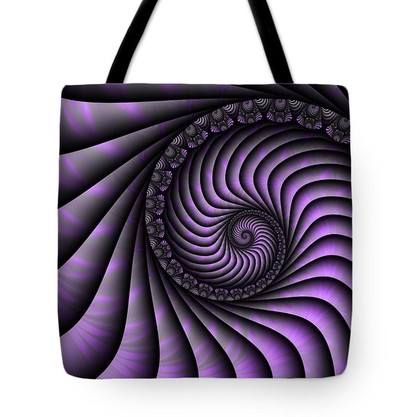 Spiral Purple And Grey Tote Bag