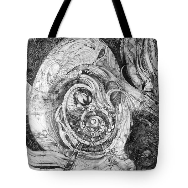 Tote Bag featuring the painting Spiral Rapture 2 by Otto Rapp