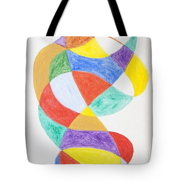 Tote Bag featuring the painting Spiral Spacesuit by Stormm Bradshaw