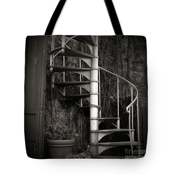 Spiral Staircase Tote Bag by Charmian Vistaunet