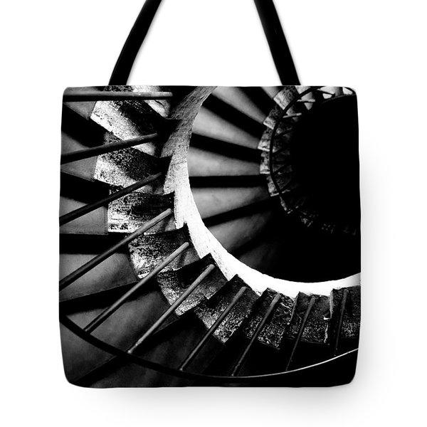 Spiral Staircase Tote Bag by Fabrizio Troiani