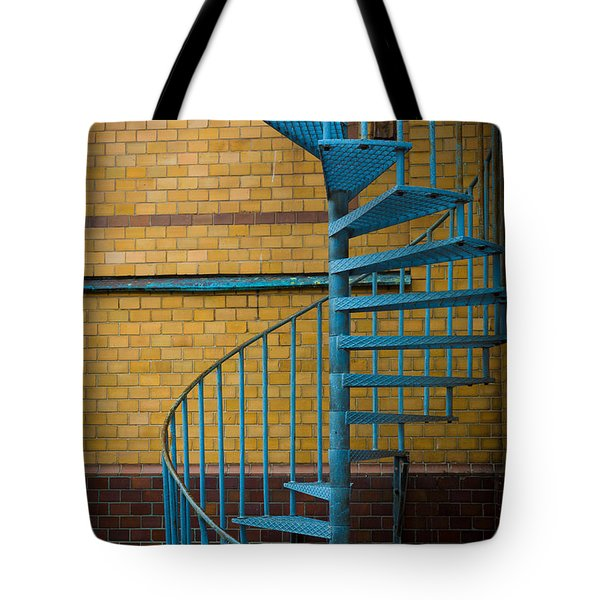 Spiral Staircase Tote Bag by Inge Johnsson
