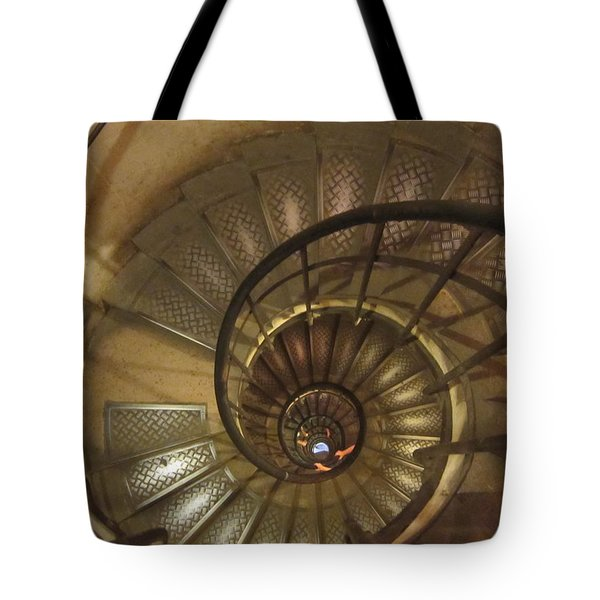 Spiral Staircase Tote Bag by Pema Hou
