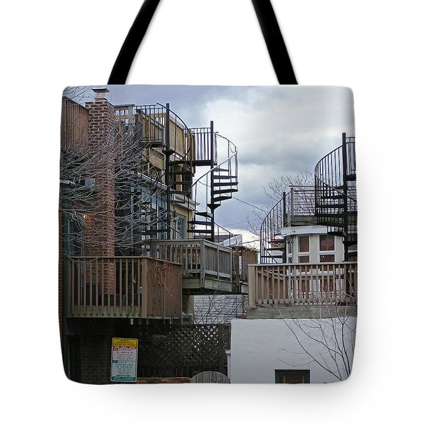 Tote Bag featuring the photograph Spiral Stairs by Brian Wallace