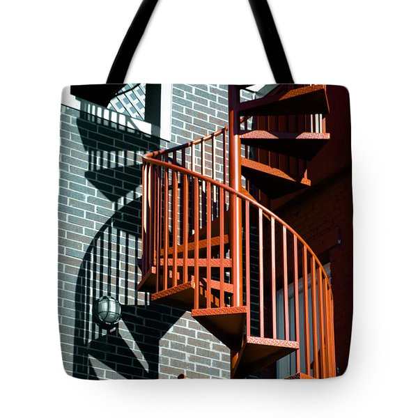 Spiral Stairs - Color Tote Bag