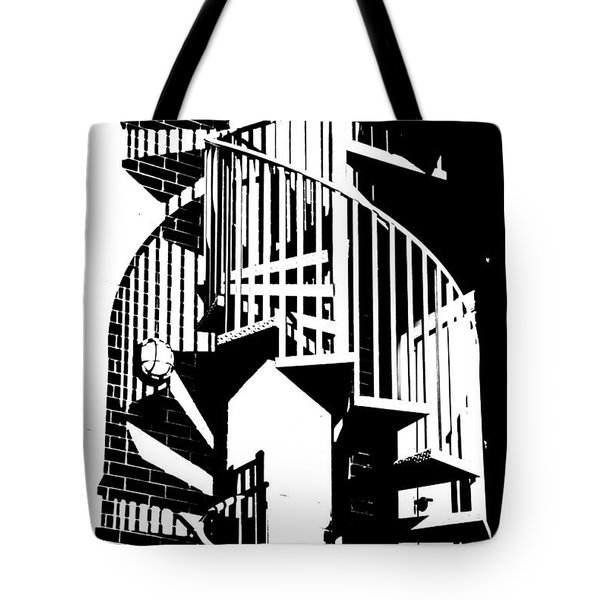 Spiral Stairs Tote Bag by Darryl Dalton