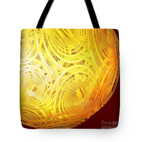 Spiral Sun By Jammer Tote Bag by First Star Art