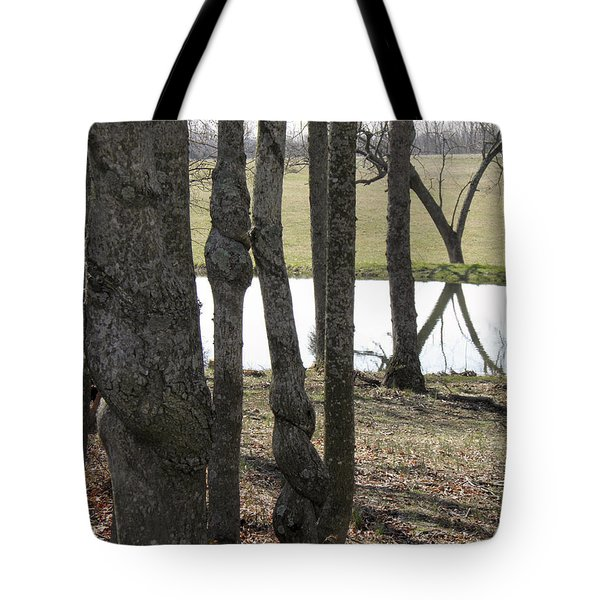 Tote Bag featuring the photograph Spiral Trees by Nick Kirby