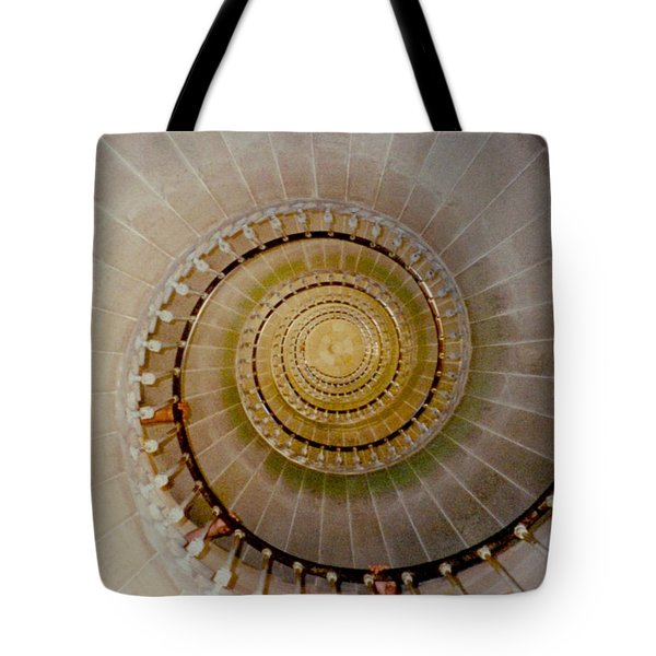 Spirale Du Phare Des Baleines Version Carree Tote Bag by Marc Philippe Joly