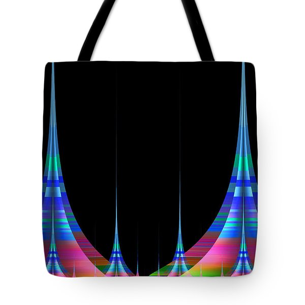Tote Bag featuring the digital art Spires by GJ Blackman