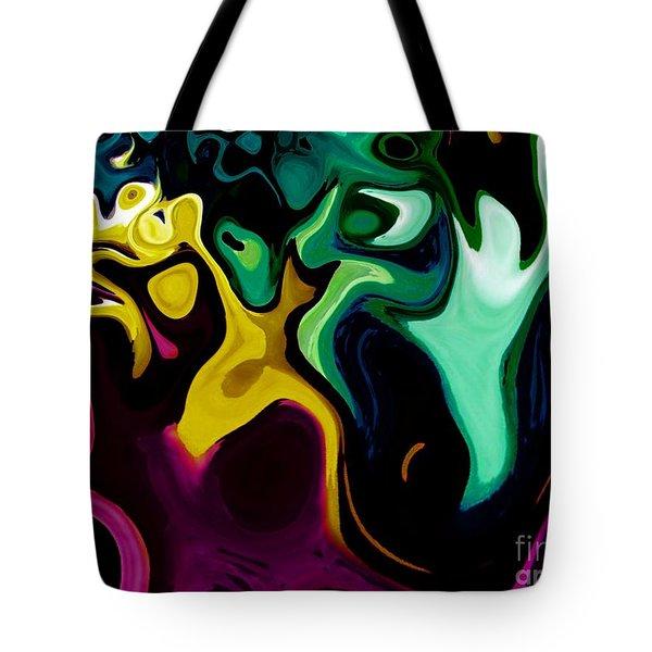 Spirit Dance An Abstract Modern Contemporary Digital Art Tote Bag by Annie Zeno