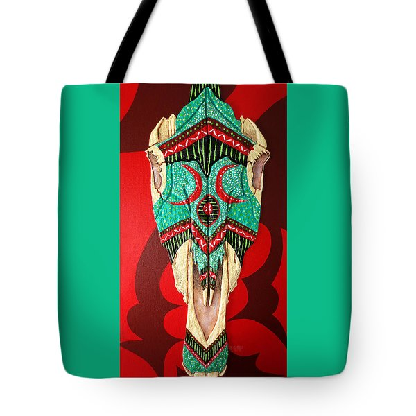 Tote Bag featuring the painting Spirit  by Debbie Chamberlin