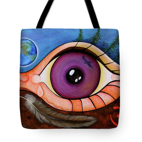 Spirit Eye Tote Bag by Deborha Kerr