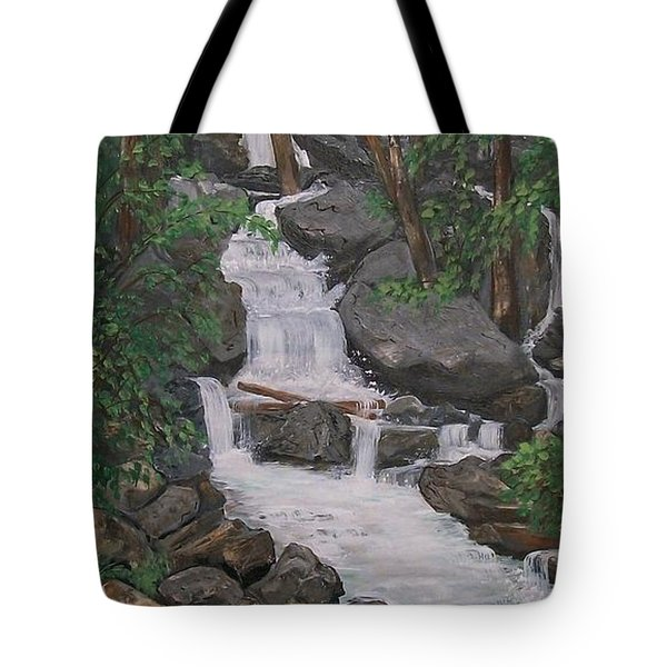 Spirit Falls Tote Bag by Sharon Duguay