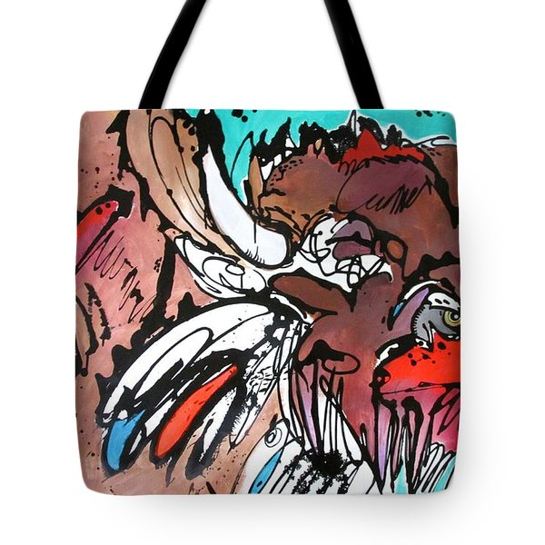 Tote Bag featuring the painting Spirit Guide by Nicole Gaitan