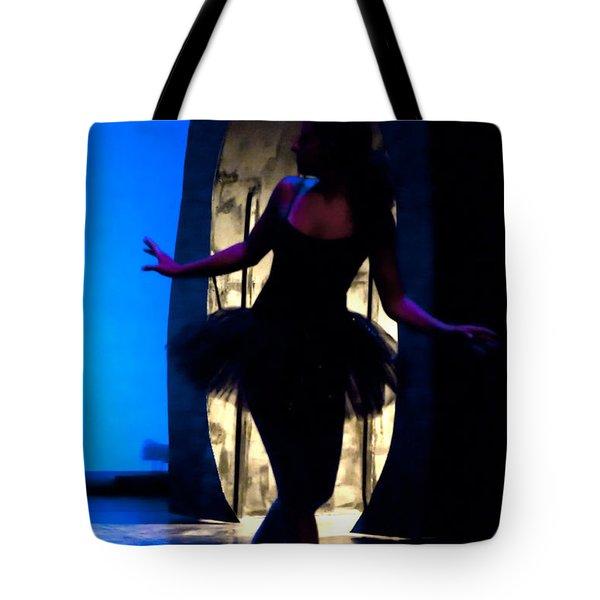Spirit Of Dance 3 - A Backlighting Of A Ballet Dancer Tote Bag
