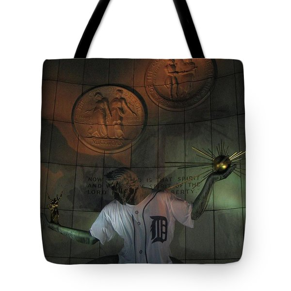 Spirit Of Detroit Tigers Tote Bag