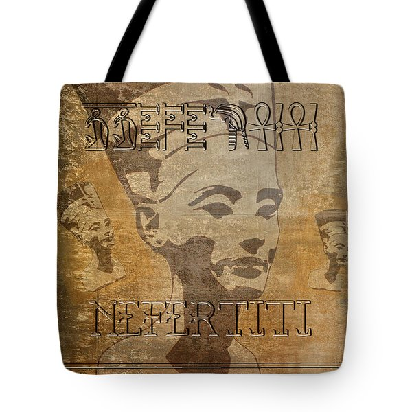 Spirit Of Nefertiti Egyptian Queen   Tote Bag