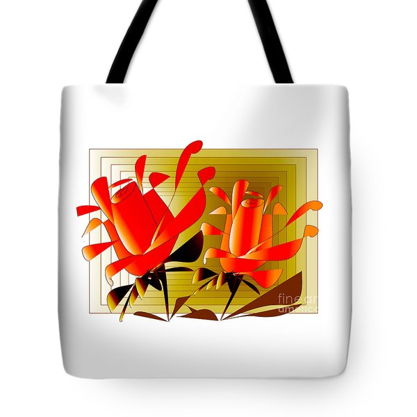 Tote Bag featuring the digital art Spirit Of Roses by Iris Gelbart