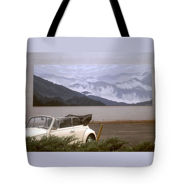 Spirit Of The Air Shown With Car Tote Bag by Blue Sky