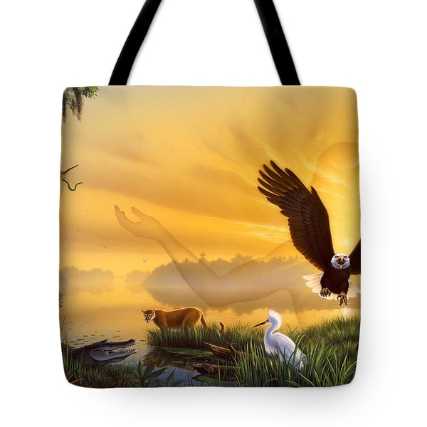 Spirit Of The Everglades Tote Bag by Jerry LoFaro