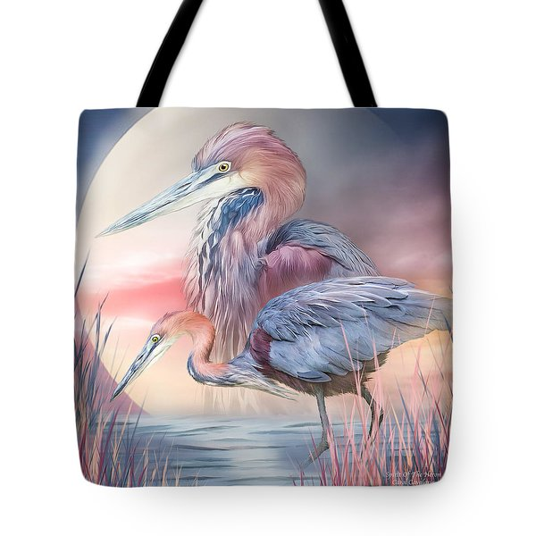 Tote Bag featuring the mixed media Spirit Of The Heron by Carol Cavalaris