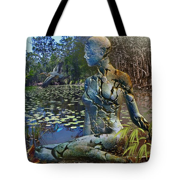 Tote Bag featuring the digital art Spirit Of The Land by Shadowlea Is