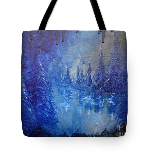 Tote Bag featuring the painting Spirit Pond by Jacqueline Athmann