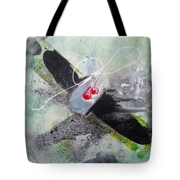 Tote Bag featuring the painting Spirit Spiral by Lesley Fletcher