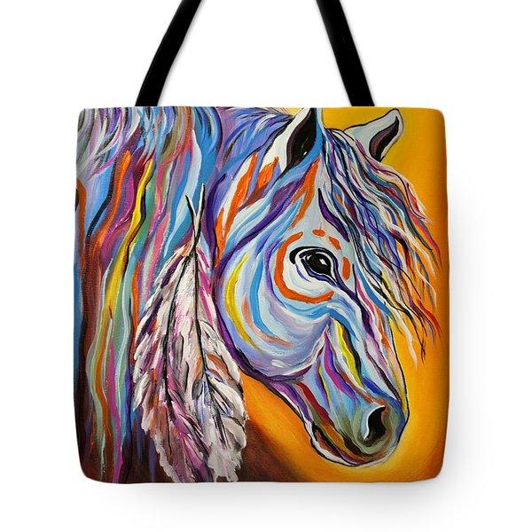 'spirit' War Horse Tote Bag