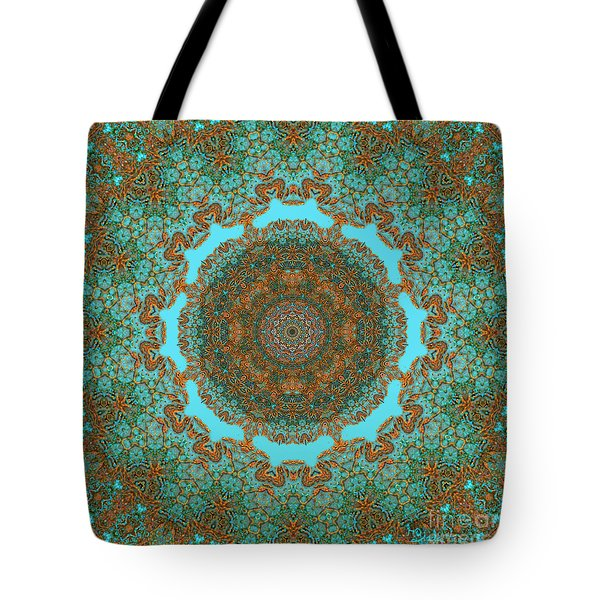 Spiritual Art - Diaphanous Moods Mandala By Rgiada   Tote Bag