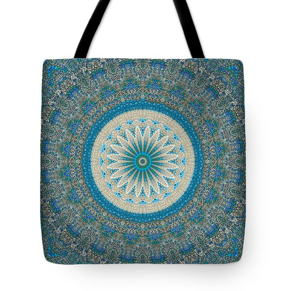 Tote Bag featuring the digital art Spiritual Art - Mandala Of Protection By Rgiada by Giada Rossi