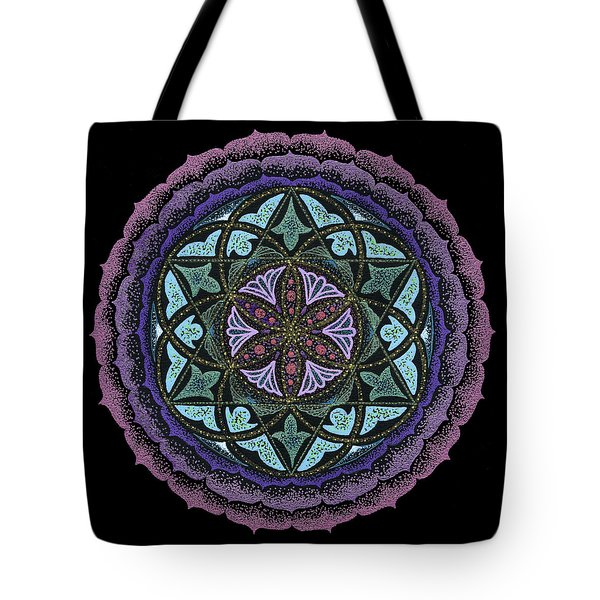 Tote Bag featuring the painting Spiritual Heart by Keiko Katsuta