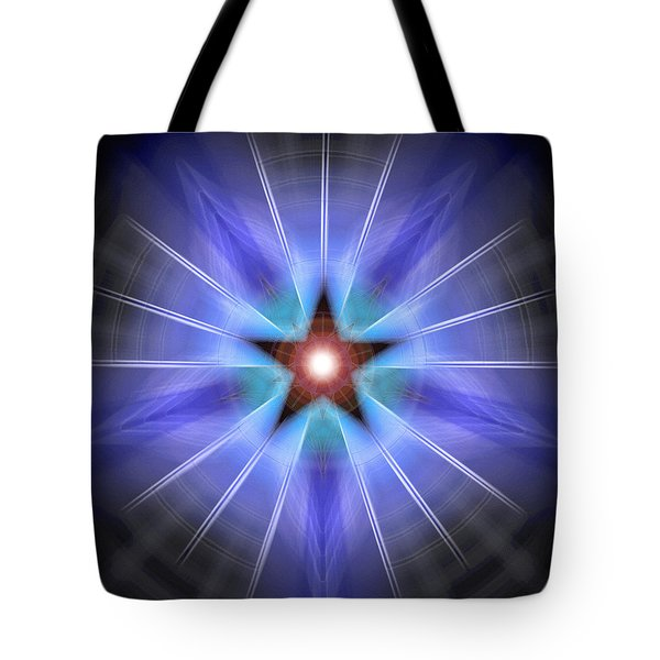 Tote Bag featuring the drawing Spiritual Pulsar by Derek Gedney
