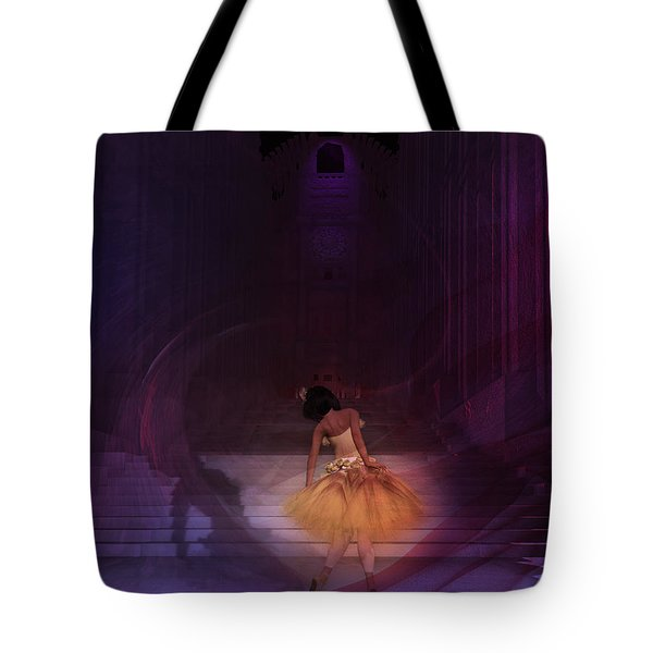 Tote Bag featuring the digital art Spiritual Vortex by Kylie Sabra