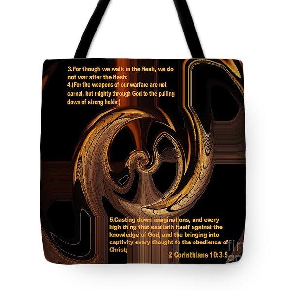 Spiritual Warfare Tote Bag by Wayne Cantrell