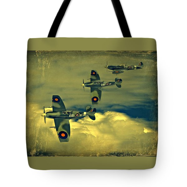 Spitfire Flight Tote Bag by Steven Agius