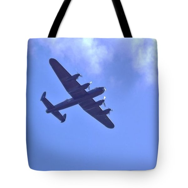 Spitfire  Lancaster Bomber Tote Bag by John Williams