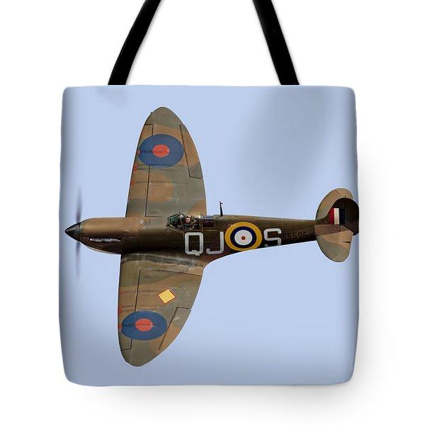 Spitfire Mk 1 R6596 Qj-s Tote Bag