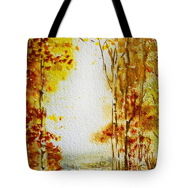 Splash Of Fall Tote Bag by Irina Sztukowski