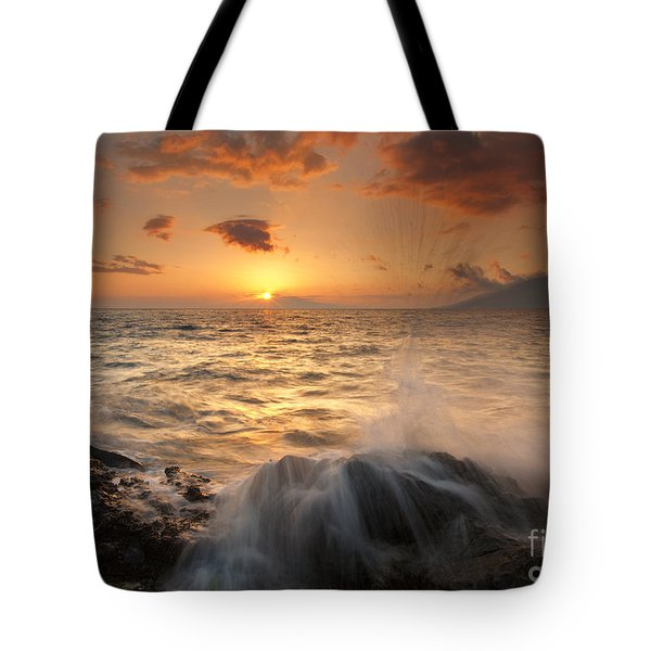 Splash Of Paradise Tote Bag by Mike  Dawson