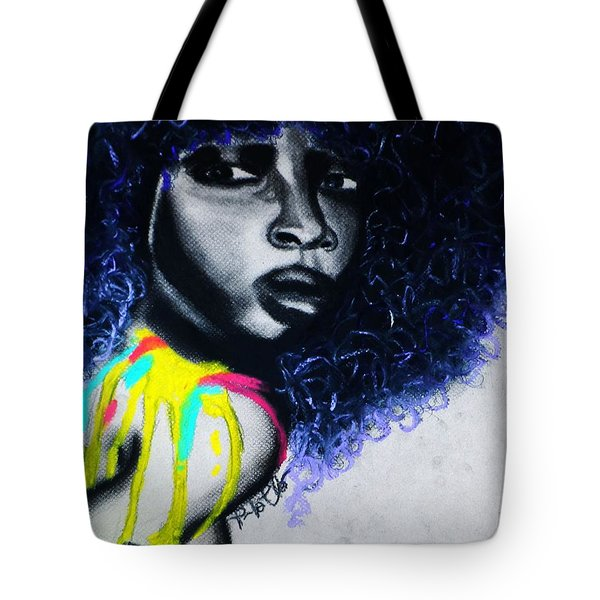 Tote Bag featuring the painting Splash by Tarra Louis-Charles